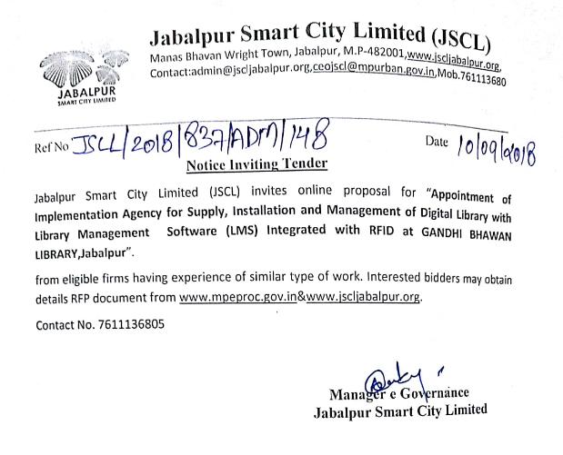 Tenders – Jabalpur Smart City